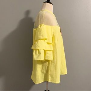 marianne Tops - Marianne Top Yellow w/Sheer Panel Sz 1X Boutique